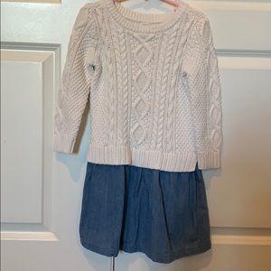 Gap sweater/denim dress